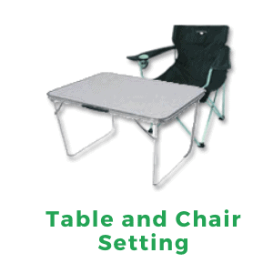 Table and Chair Setting